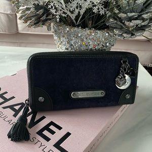 Juicy Couture Navy Velour Wallet